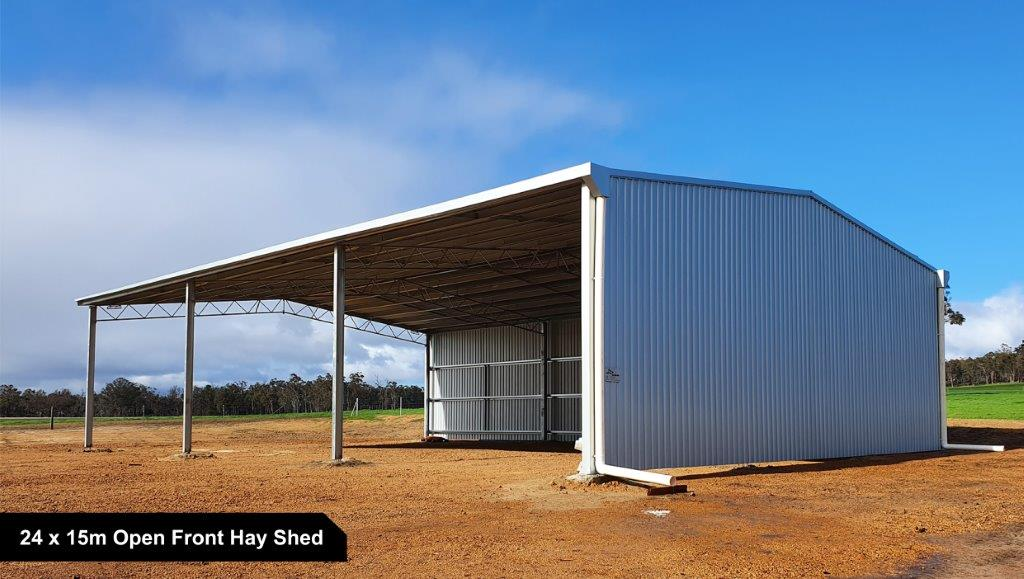 24 x 15m Open Front Hay Shed-1