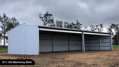 27 x 12m Machinery Shed-1