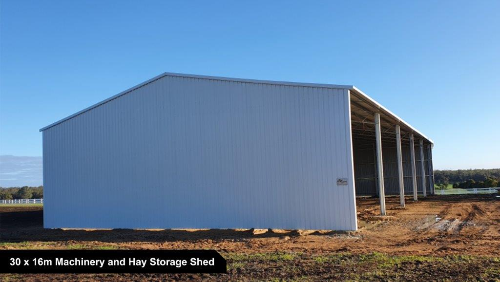 30 x 16m Machinery and Hay Storage Shed-1